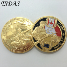 2016 New Year Gifts UK ARMY Infantry Div. Coin 24K Gold Plated Coin, 40*3mm Souvenir Coin Wholesale Military Antique Coin