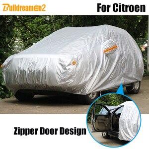Чехол для автомобиля Buildreamen2, водонепроницаемый чехол с защитой от солнца, снега и дождя для Citroen C5 C6 C8 C-Quatre DS4 DS5 Berlingo C-Crosser