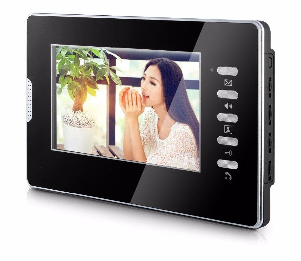 SmartYIBA 7'' Color Screen TFT LCD Apartment Video Indoor Monitor Indoor Unit for Video Intercom Doorbell Door Phone System
