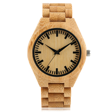 Men Watches Elegant Minimalist Full Babmboo Wood Watch Creative Vintage Wooden Quartz Wrist Watch Male Sports Reloj de madera