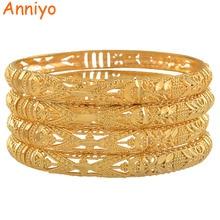Anniyo Bracelet éthiopien pour femmes, lot de 4, Bracelet de luxe pour mariage, mariée de dubaï, bijoux de fête africaine et moyen orient, cadeau #088306