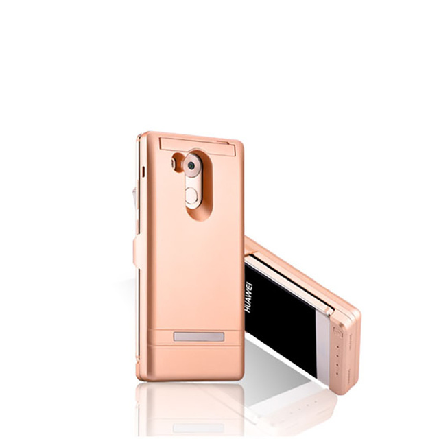 Real 6000 mah cargador de batería casos para huawei mate 8 smartphone ultra-delgado banco de la energía de respaldo de batería externa recargable