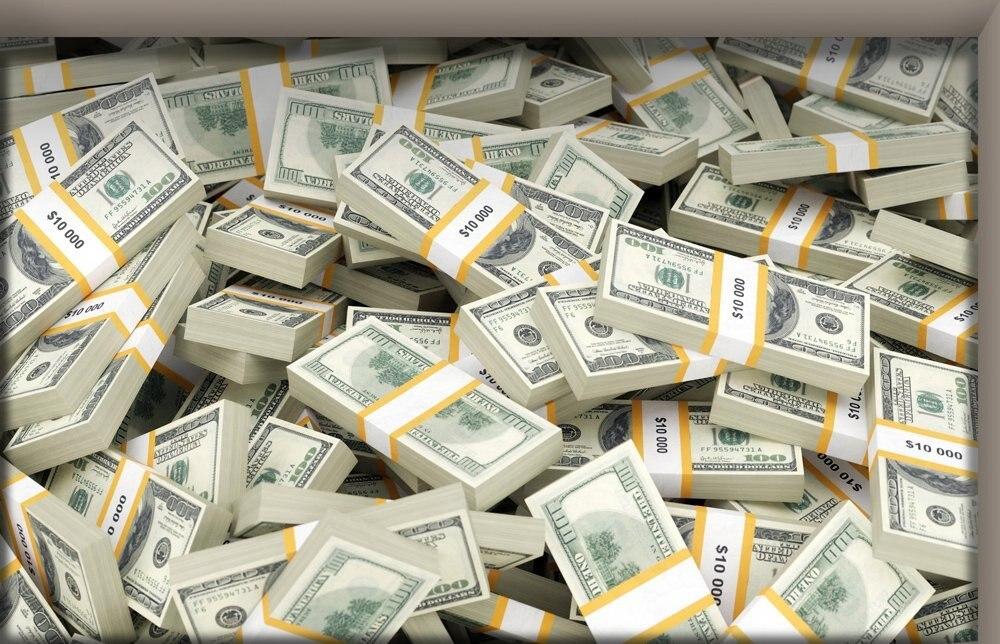 фотообои пачки денег проедем