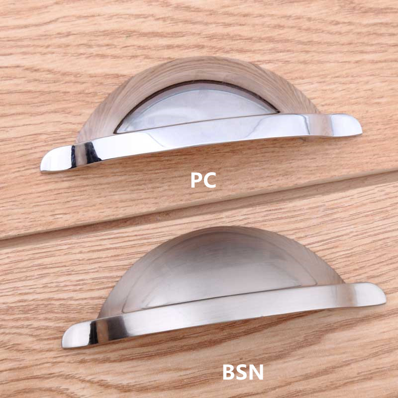 64mm modern simple cup shell furniture handles silver chrome drawer cabinet pulls knobs 2.5 brushed nickel dresser door handles насос arderia cp3 25 8