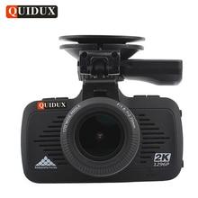 QUIDUX 2 K Full HD 1296 P DEL COCHE Cámara Grabadora de Vídeo GPS Logger LDWS Overspeed Recordando La Visión Nocturna Coche Dvr de Ambarella A7 Dashcam