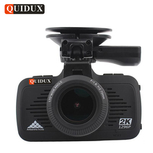 QUIDUX 2K Full HD 1296P CAR Video Camera Recorder GPS Logger LDWS Ambarella A7 Car DVRs Overspeed Reminding Night Vision Dashcam