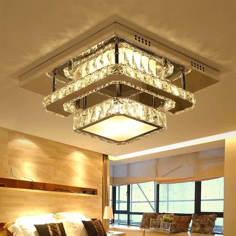 IWHD K9 plafond LED cristal luminaires Avize moderne plafonniers pour salon chambre Luminaire Plafonnier LustreIWHD K9 plafond LED cristal luminaires Avize moderne plafonniers pour salon chambre Luminaire Plafonnier Lustre