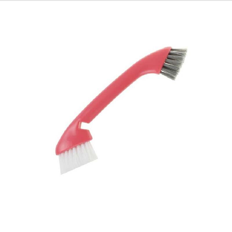 Double head cleaning brush, long handle wash pot brush, household brush, sink, kitchen slot, cleaning brush 21cm