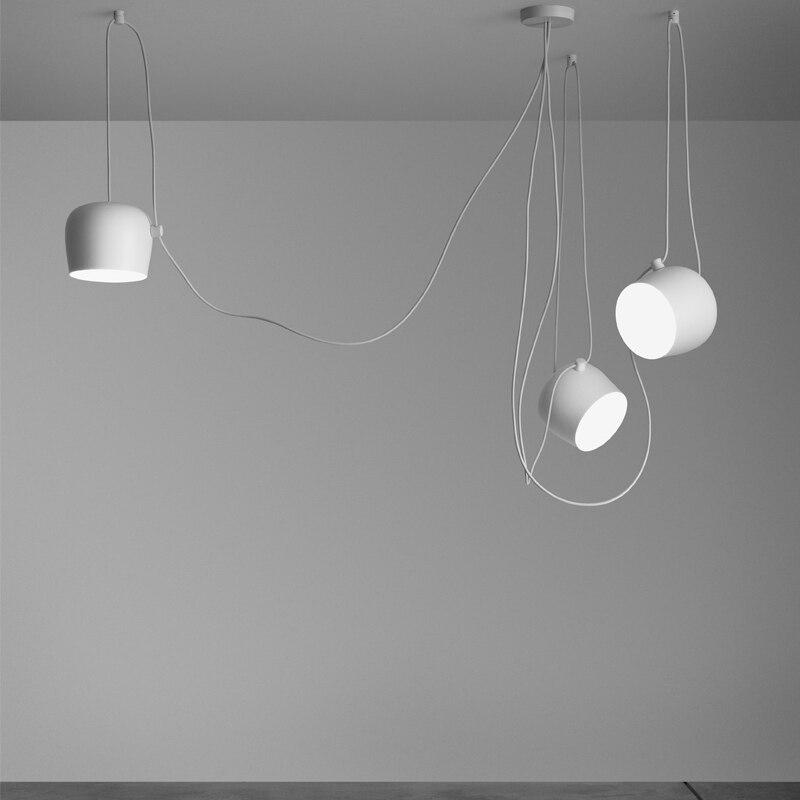 3 лампы высокого Реплика pendelleuchten акриловая крышка Открытый Подвесные Светильники для столовой Алюминий DIY LED подвеска industrielle лампа