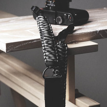 Mr.stone Handmade skórzany pasek od aparatu aparat z paskiem na ramię pas linka spadochronowa knitting (regulowany pasek na ramię)
