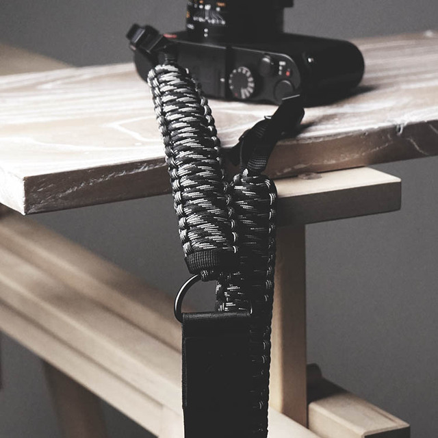 Mr.stone اليدوية جلد طبيعي شريط كاميرا كاميرا الكتف حزام حبل المظلة الحبل الحياكة (حزام الكتف قابل للتعديل)