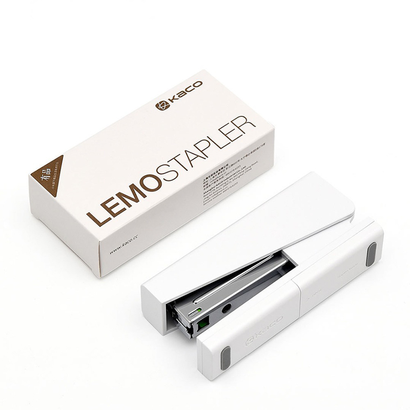 Original Xiaomi Mijia Kaco LEMO Stapler 24/6 26/6 with 100pcs Staples for Paper Binding Business School Office Use(China)
