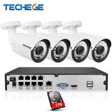 8CH 1080 P 48 V POE NVR kit 4 stücke 2MP 3000TVL PoE IP kamera P2P Wolke CCTV System IR Outdoor Nachtsicht Videoüberwachung Kit