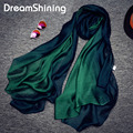 Spring 2017 New Nice Scarves & Wraps Silk Scarf Natural Silk Gradient Color Fashion Cotton For Woman Spring and Autumn