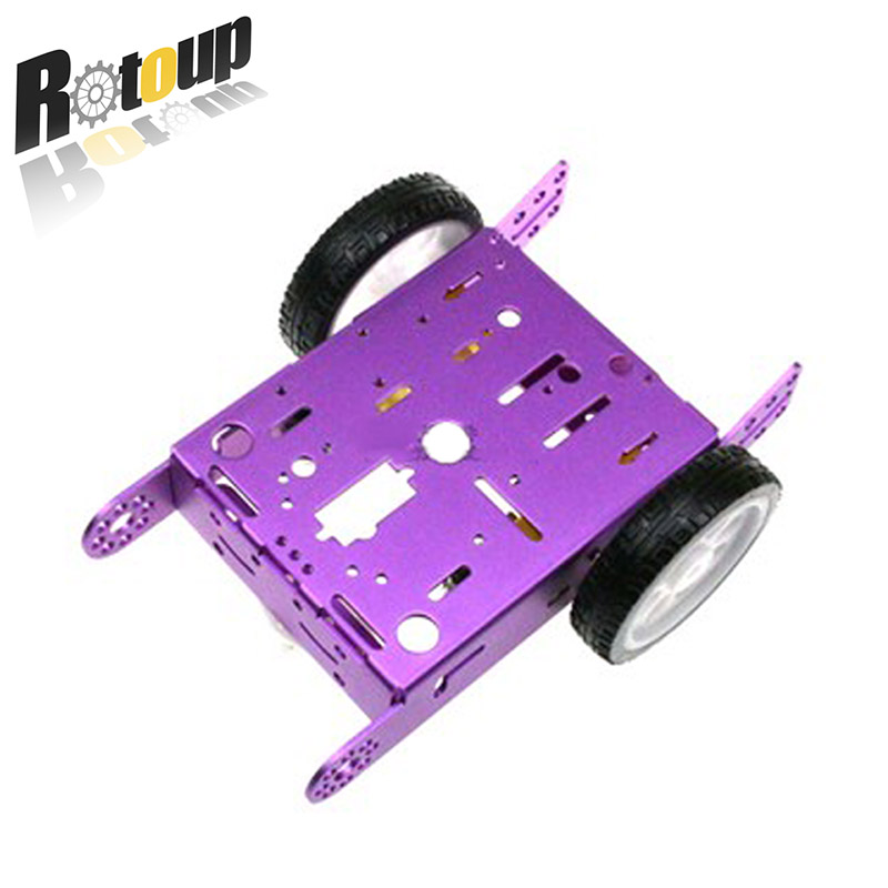 1*2WD Aluminum Car New Education Toys Robot Intelligent Car Alloy Chassis 2WD Smart Robot Car Chassis Kit DIY MBOT Car цены онлайн