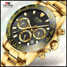 Tevise 2018 nouveaux hommes montres mécaniques automatique Date bracelet de mode horloge mâle rôle Sport montre en or Relogio Masculino