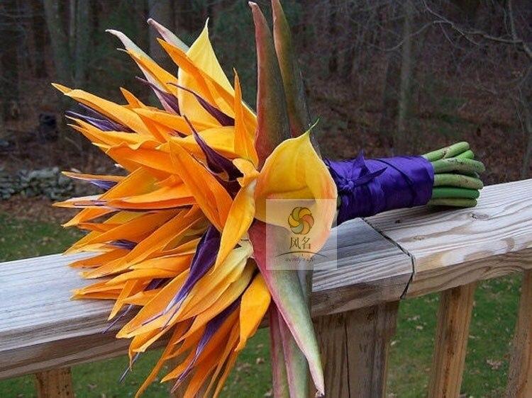 Искусственный цветок ручной работы, свадебный цветок, невеста, цветы, птица рая