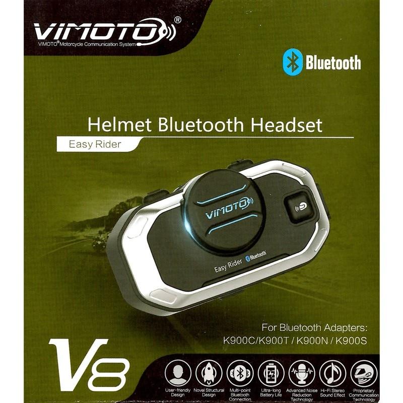Vimoto V8 Motorcycle Helmet Intercom Bluetooth Headset Motorbike BT Interphone simultaneously Connect 2 Bluetooth High-fidelity wireless bt motorcycle motorbike helmet intercom headset interphone