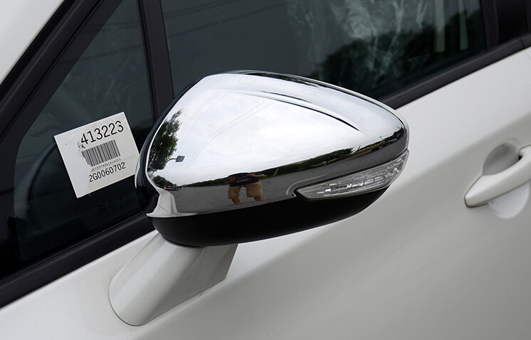 SKTOO2PCS/Set Car Stying For <font><b>Peugeot</b></font> 301 308 <font><b>408</b></font> 508 2008 3008 308S Door Side Wing <font><b>Mirror</b></font> Chrome Cover Rear View Cap Accessories image