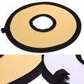 30 cm de Diámetro 2 en 1 Reflector Ligero Plegable Fotografía Ronda Hollow para Estudio Fotográfico de Oro Plata Doble Cara Reflejan L3EF