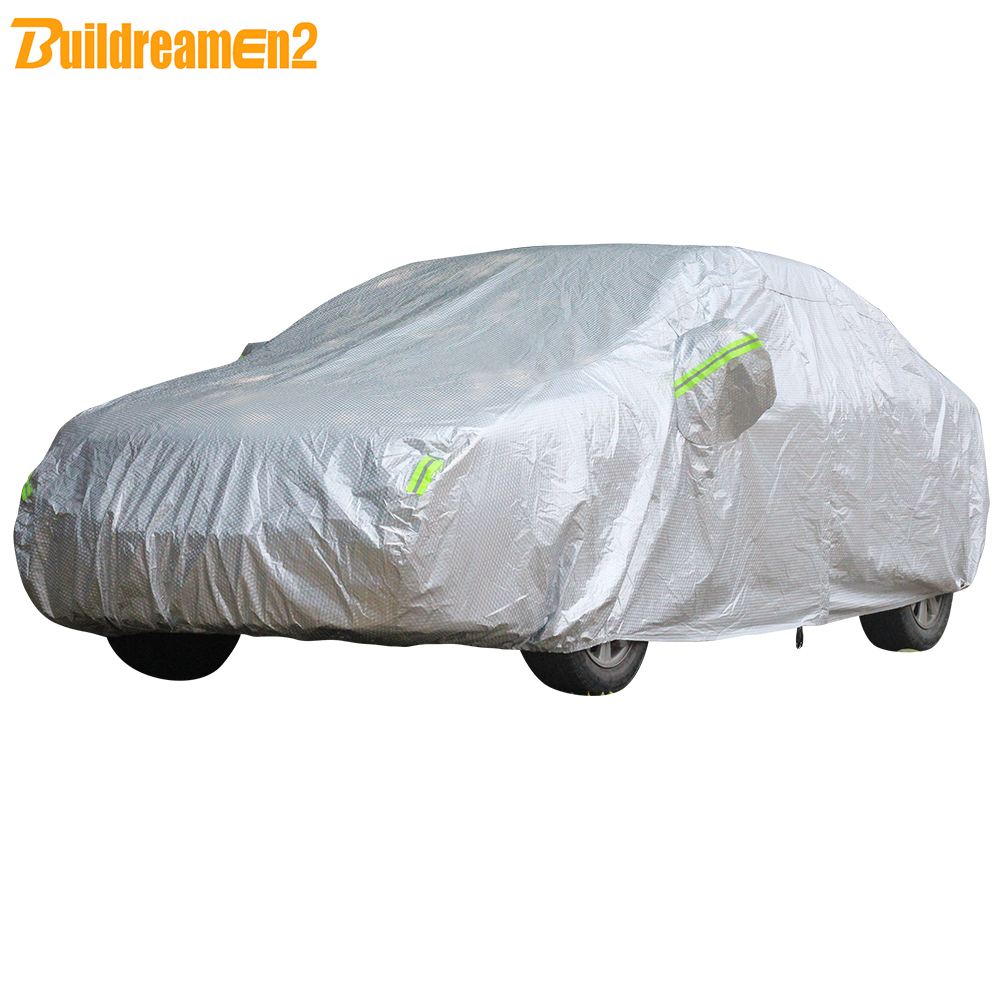 Buildremen2 Thick Car Cover 3 Layers Waterproof Sun Rain Hail Resistant Cover For Audi A3 A4 A6 A8 TT Q3 Q5 Q7 80 90 RS3 S5 S6