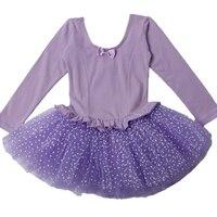 Long Sleeve Bellet Tutu Kids Professional XXL Size Pink Toddler Leotards Stage Ballet Tutu Skirt For Girls