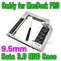 """Quente para Macbook Pro Air 9.5mm De Alumínio 2.5 """"SSD HDD Hard Disk Motorista caddy SATA 3.0 Caso Gabinete Externo Plug and Play"""