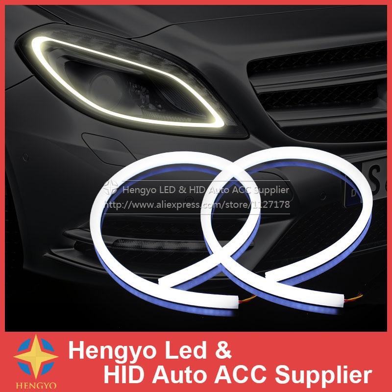 2 x 45 cm luz del coche del LED Faro Tira flexible Luz de - Luces del coche