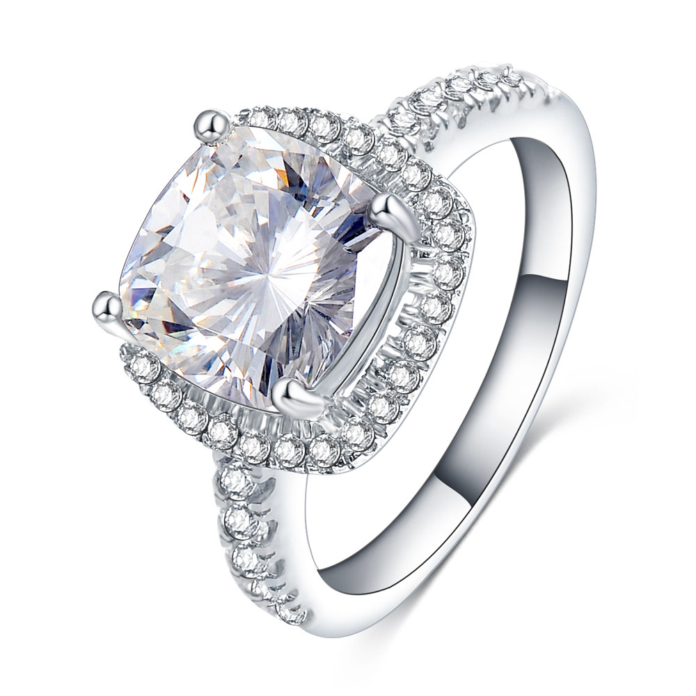 2017 Luxury Bride Ring With Full CZ Diomand Round