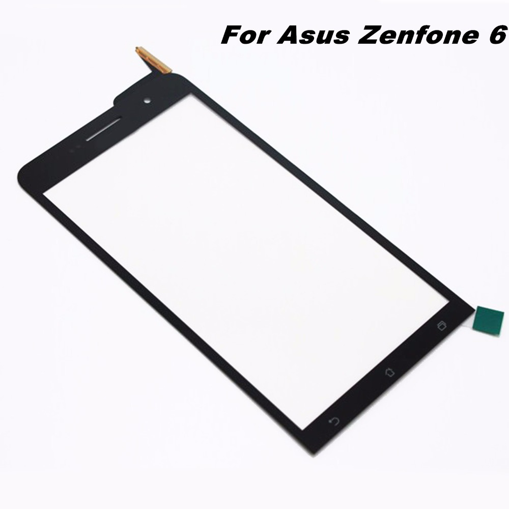 For Asus Zenfone 6 Replacement Parts Original Touch Digitizer Screen Glass Replacement for ASUS Zenfone 6 - Black new original 5 for cubot p6 touch digitizer sensors outer glass black replacement parts free tracking for cubot p6 lcd touch
