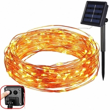 8 mode Solar Power LED Holiday light 10M 20M Copper Wire LED Solar String Outdoor light Decorative Garden Lawn Wedding Party Chr 10m 15m 20m copper wire solar led string light waterproof wire rope lights outdoor landscape patio garden camping party
