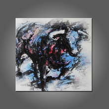 Top Skill Hand Painted The Spanish Bullfight New Designed Anima Bull Oil Painting on Canvas Wall Artwork Paintings Hang Pictuers