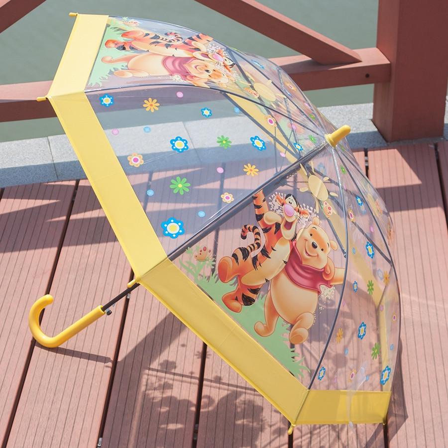 High Quality Kids Umbrella Cartoon Children Transparent Umbrellas Mass production Creative for Girl Child Parasol on Sale in Umbrellas from Home Garden
