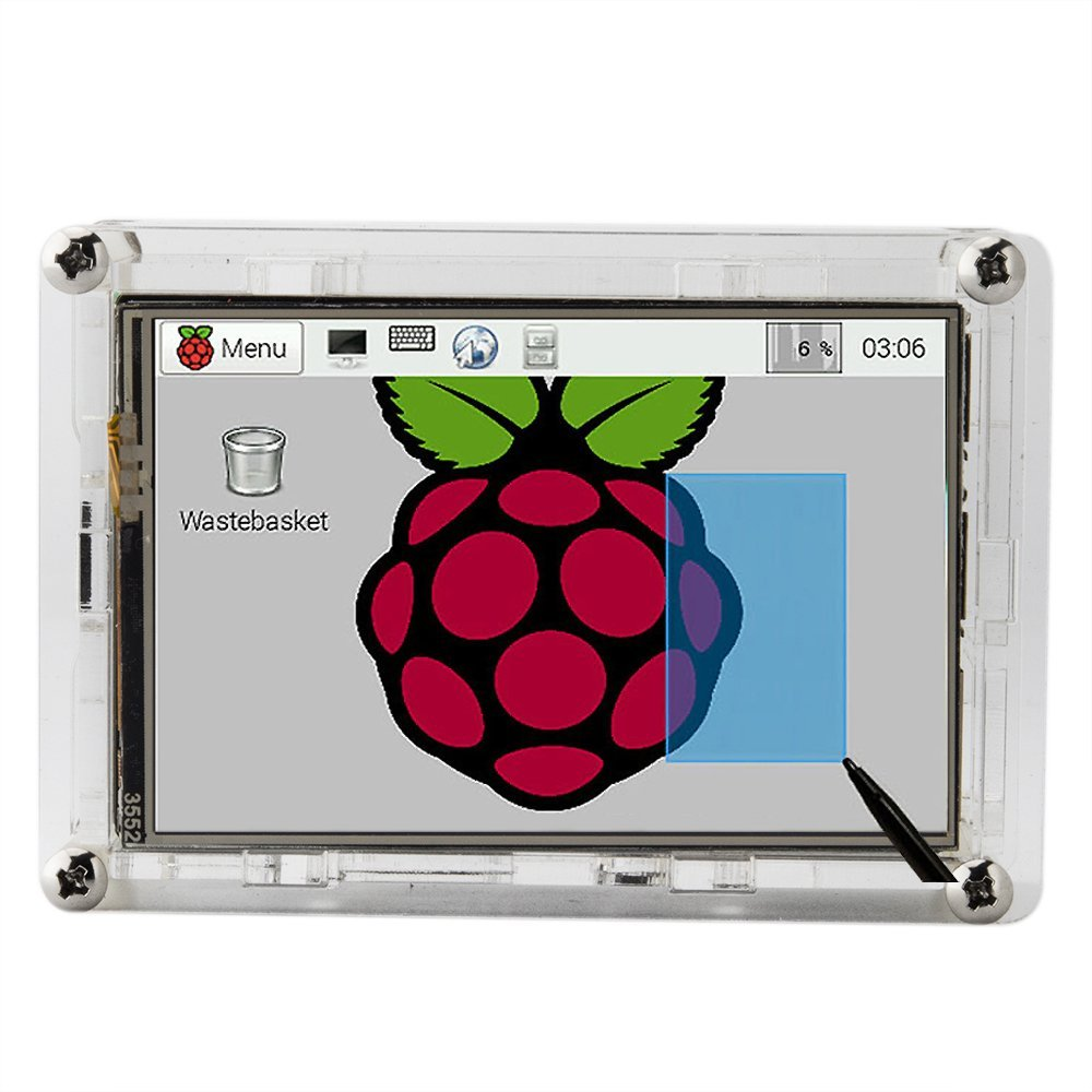 """Image 4 - Best Price Original 3.5"""" LCD TFT Touch Screen Display for Raspberry Pi 2  / Raspberry Pi 3 Model B Board + Acrylic Case +Stylusdisplay for raspberrydisplay for raspberry piscreen display -"""