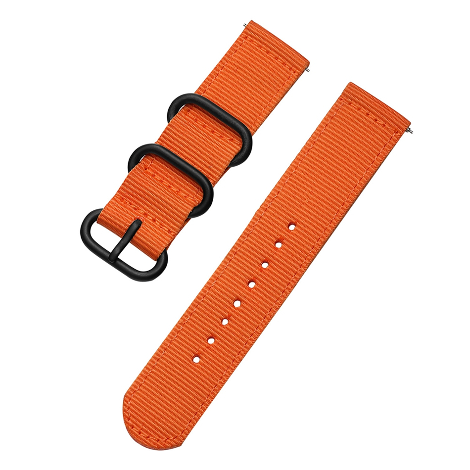 Canvas Nylon Wristband Strap For Xiaomi Amazfit Stratos 2 Pace Straps For Amazfit Bip Watch band For Samsung Gear S3 S2 Bracelet13