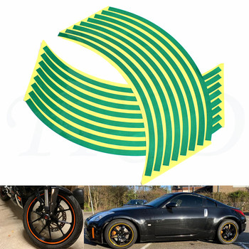 Car motorcycle Tire Rim Stickers 17-19 Reflective Car-Covers Tape Wheel Tyre Sticker Decors For Aprilia SHIVER/GT DORSODURO750 image