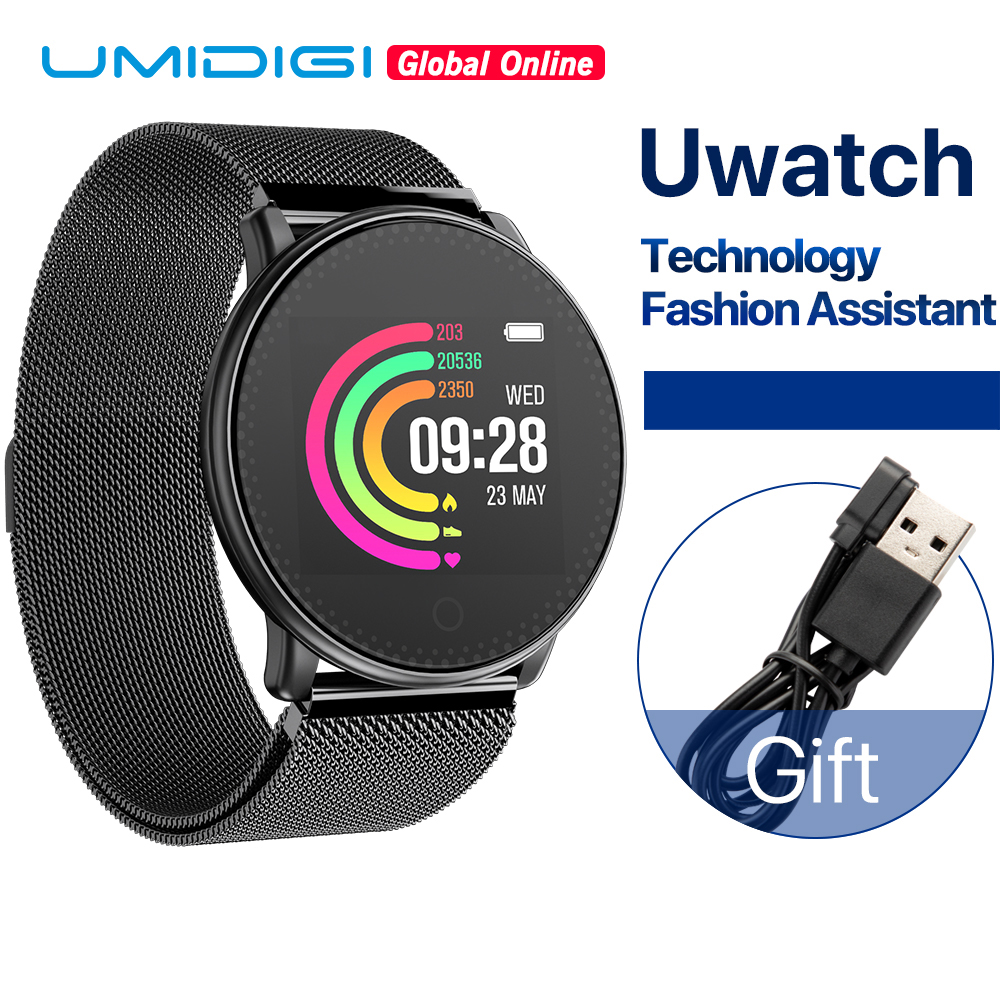 UMIDIGI Uwatch Smart Uhr Für Andriod, IOS OS 64KB 512KB Globale Version Passometer Fitness/Schlaf Tracker 25 tage Standby Zeit
