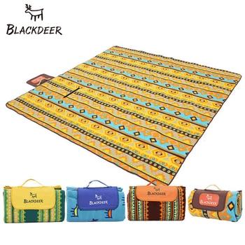 Черный Олень Открытый Кемпинг коврик для пикника Водонепроницаемый Алюминиевая фольга складной плед пляж для сна одеяло флис туристический матрас