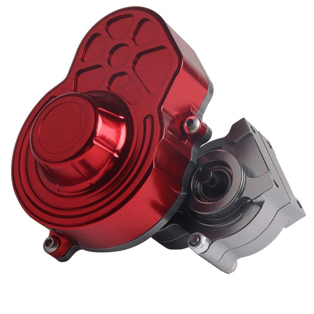 Pour 1/10 RC chenille avec engrenage Durable jouet fournitures boîte de Transmission Axial SCX10 RC voiture fournitures boîte de vitesses amélioré complet en métal