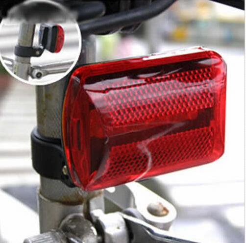 Waterproof Bike Bicycle 5 LED Rear Tail Light Lamp Bulb Red Back Cycling Safety Warning Flashing Lights Reflector Accessories