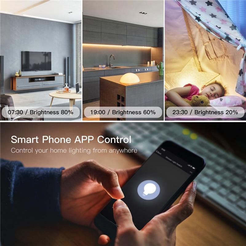 DIY умный WiFi свет светодиодный диммер переключатель Smart Life/Tuya приложение дистанционное управление 1/2 переключатель, работает с Alexa Echo Google Home - 3