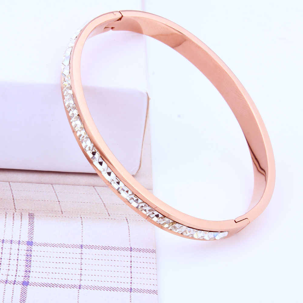 XUANHUA נירוסטה קאף צמידים & צמידי רוז זהב צמיד לנשים יוקרה צמיד פלדה חדש אופנה תכשיטים