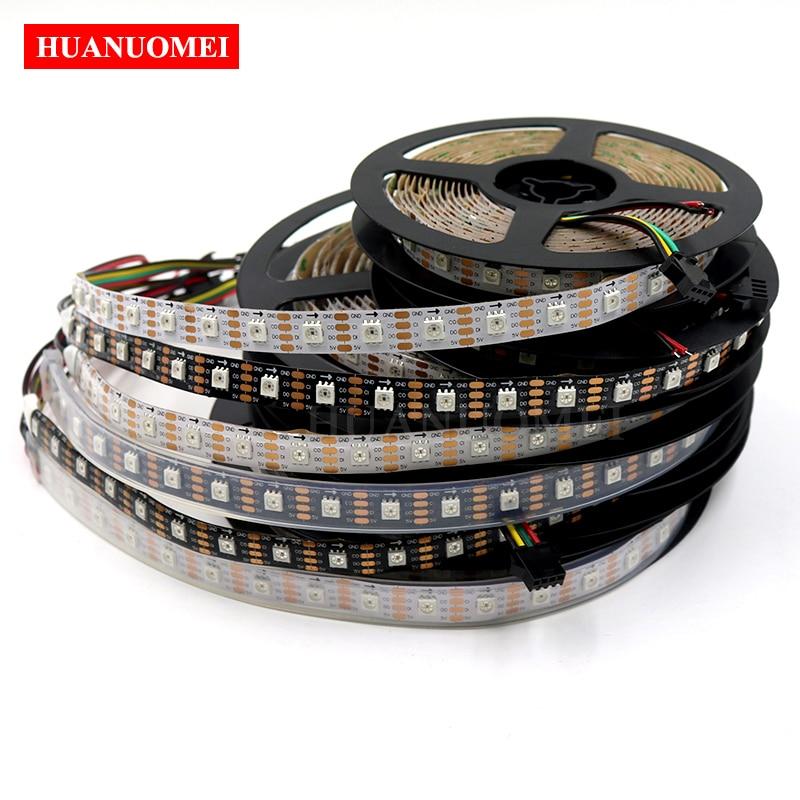 5M 72LED s/m HD107S LED Lumière De Bande De Pixel, 72 pièces HD107S (Similaires APA102/APA107) 5050 RVB LED; DONNÉES et HORLOGE Séparément, DC5V d'entrée