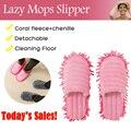 1 ペアダストモップスリッパ怠惰な家の床研磨クリーニング簡単足靴下靴カバーモップスリッパ