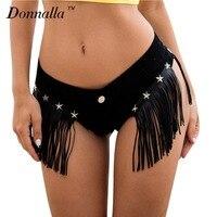 Donnalla Sexy Booty Cheeky Denim Micro Mini Shorts Low Rise Waist Sexy Jeans Shorts Erotic Disco