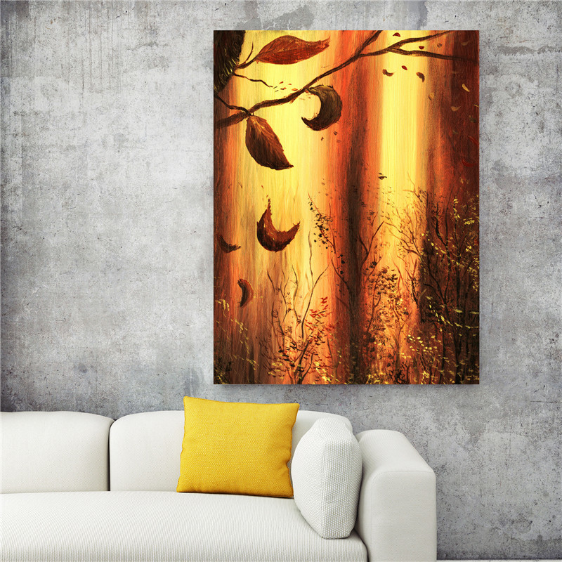 Oil Painting About Warm Autumn Canvas Abstract Art For