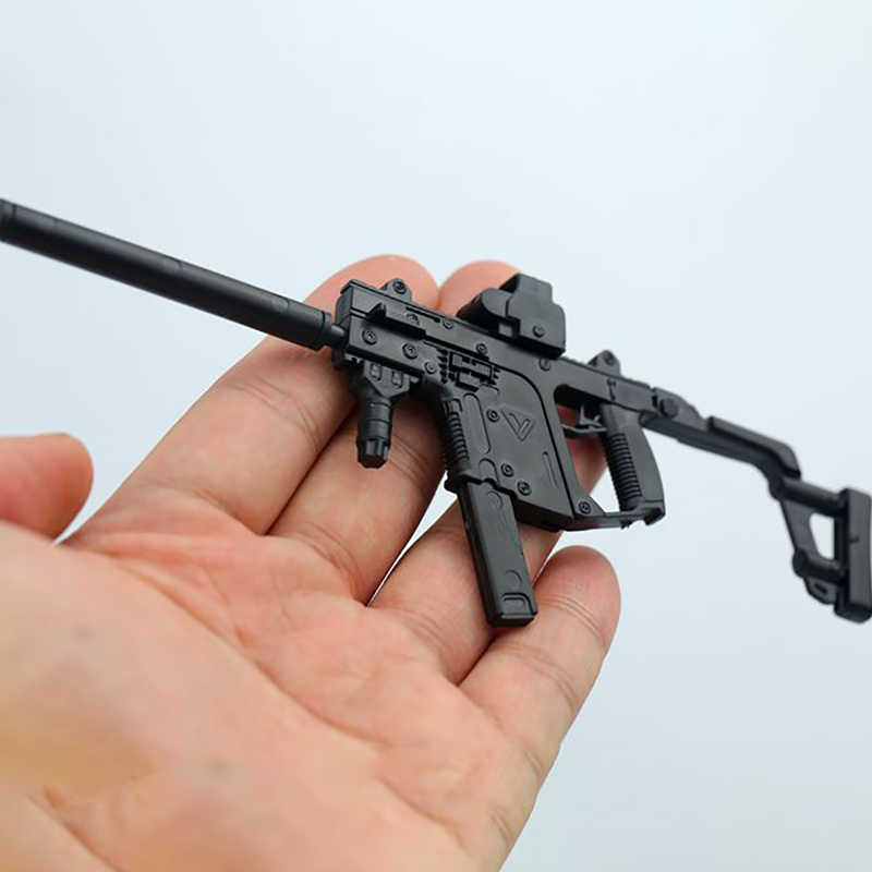 2PCS/Set 1/6 Scale KRISS Vector +MP5SD5 Submachine Guns Model 1:6 Plastic  Assembled Puzzle Weapon annex Military F 12