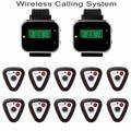 433.92 MHz Wireless Sistema de Llamada de La Iglesia Del Hospital con 2 unids Reloj Receptor 10 unids Botón de Llamada De Buscapersonas 2F3300A-10F3296F