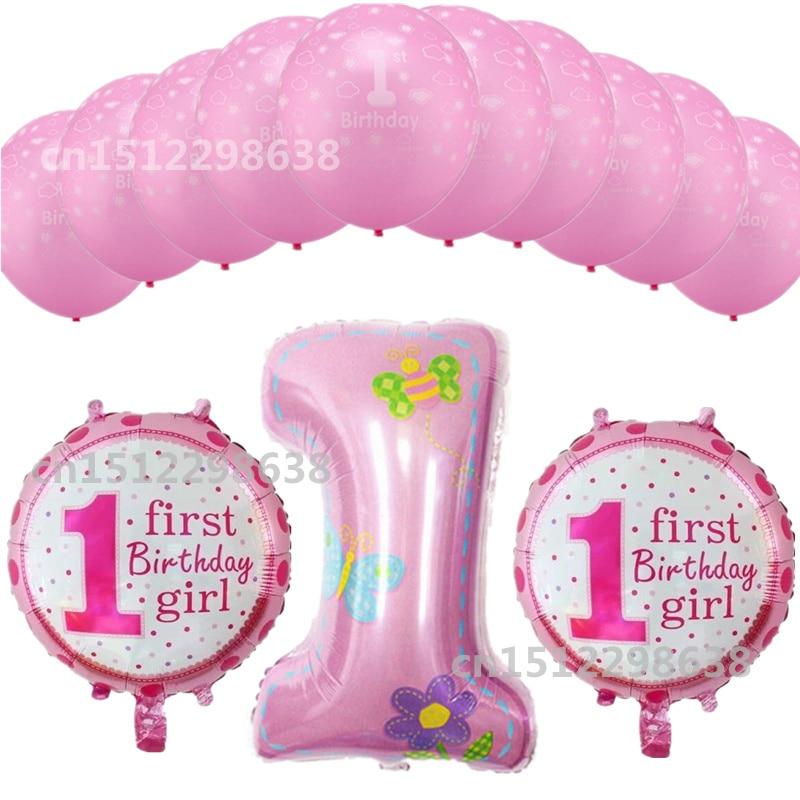 13 Stks Partij 1 Jaar Oude Baby Shower Verjaardag Nummer 1 Folie