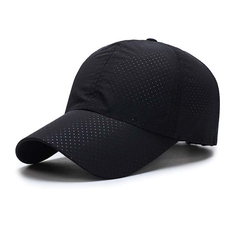 Ultra-slim Summer Cap Quick-drying Fabric Summer Unisex Women Man Quick Dry Mesh Cap Running Hat Bone Breathable Hats